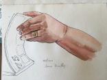 100 Di's hand